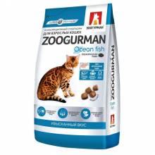 Зоогурман сухой корм для взрослых кошек с океанической рыбой 1,5 кг (10 кг)