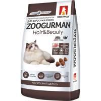 Зоогурман сухой корм для взрослых кошек с птицей (роскошная шерсть) 1,5 кг (10 кг)