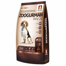 Зоогурман Daily Life для взрослых собак с индейкой 12 кг (20 кг)