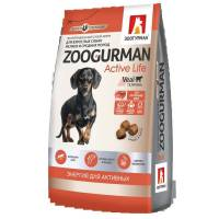 Зоогурман сухой корм для взрослых собак с телятиной 1 кг (10 кг)